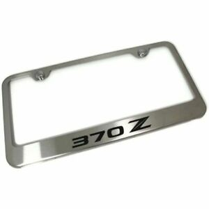 Nissan 370z Brushed Chrome Stainless Steel License Plate Frame Lf 370 2 es