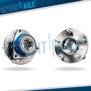 Set Of 2 Front Driver And Passenger Wheel Hub And Bearing Fwd W O Abs