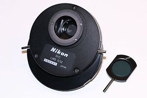 Nikon Dic Hoffman Lwd 0 52 Condenser For Diaphot Microscopes Mint Condition