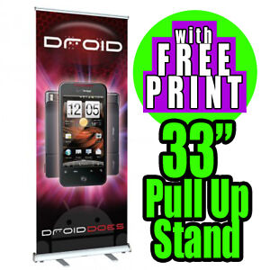 Aluminum 33 X 80 Retractable Roll Up Banner Stand Trade Show Signage Display