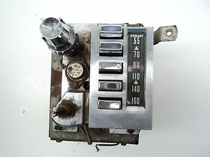 1959 1960 Mercury Am Push Button Radio