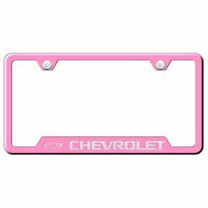 Chevrolet Pink Stainless Steel License Plate Frame