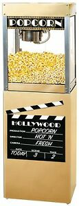 New Hollywood Premiere 6 Oz Popcorn Popper Machine And Matching Pedestal Stand