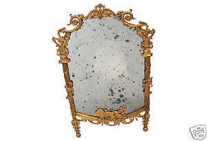 Superb Elegant Louis Xv Style Old Mirror