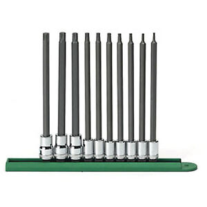 Gearwrench 10 Piece Long Torx Bit Socket Set 80588