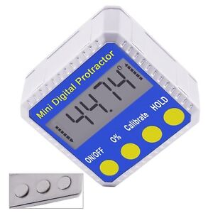 Digital Inclinometer Electronic Angle Gauge Meter Protractor 360 Magnetic Base