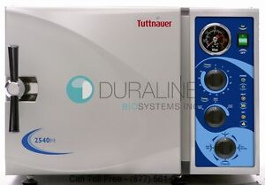Tuttnauer 2540m Manual Autoclave Steam Sterilizer Brand New W 1 Year Warranty