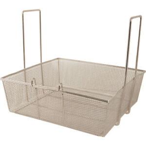 Fry Basket W two Handles Front Hook 16 75 X 17 5 X 6 Large Batch 225 1027