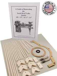 South Bend Lathe 16 Rebuild Manual And Parts Kit all Models