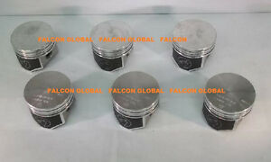 Chevy Corvair 164 Speed Pro Trw Forged Flat Top Coated Pistons Set 6 1964 69 30