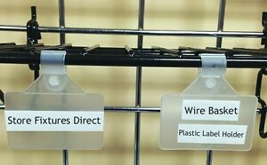 Wire Basket Plastic Label Holder Clip On 2 X 1 25 Pack Of 50