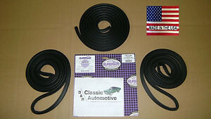 Weatherstrip Kit 3pc Door Trunk 68 74 Nova Made In Usa Chevy Ii Seals