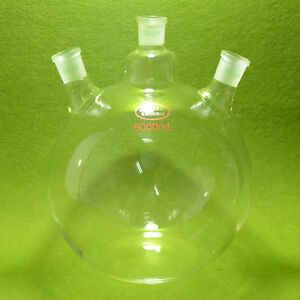 Plat Bottom Flask 5000ml 5l 3 Neck 24 29 Joint very Heavy Wall lab Flask