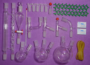 Lab Glassware Kit 24 40 advanced Chemistry Lab Glassware laboratory Glassware