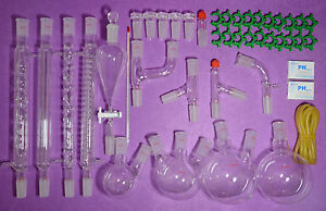 24 40 new Organic Chemistry Laboratory Glassware Kit 45 Pcs lab Chemilcal Unit