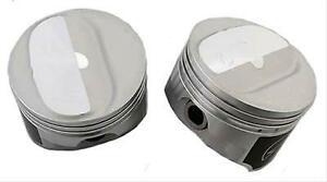 Speed Pro trw Chevy 350 5 7 Forged Dome Coated Skirt Pistons Set 8 10 5 1 Std