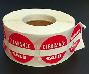 500 Self adhesive Clearance Sale Round Retail Labels 1 Stickers Tags