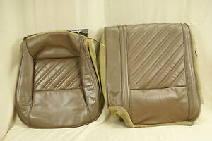 82 92 Firebird Rear Seat Cover Brown Leather Good Condition