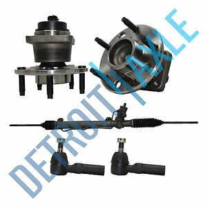 Steering Rack And Pinion 2 Outer Tie Rod 2 Wheel Hub Bearing Assembly