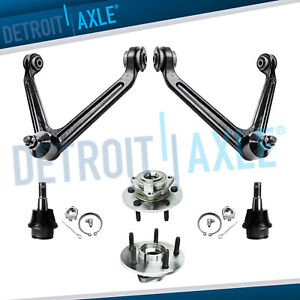 6pc Upper Control Arm Ball Joint Wheel Bearing No Abs 2002 2005 Dodge Ram 1500