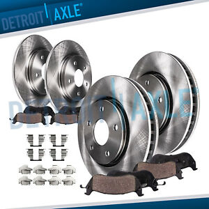 Chrysler Town Country Dodge Caravan Front Rear Brake Rotors Ceramic Pads