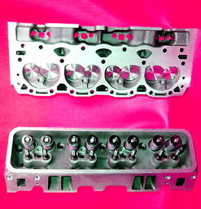 New 2 Gm Chevy Vortec 350 5 7 Cylinder Heads 2 02 Stainless Valve 906 062