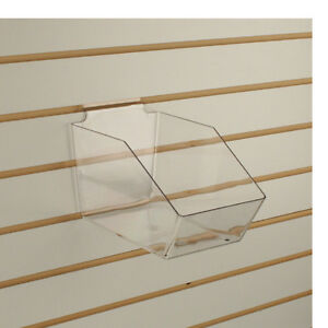 Slatwall Acrylic Bins Medium Bin 6 L X 5 5 H X 9 5 D Clear 10 Pieces