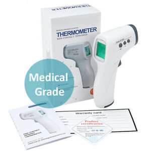 Non contact Digital Forehead Thermometer Temperature Gun Adult Kids Baby Fever