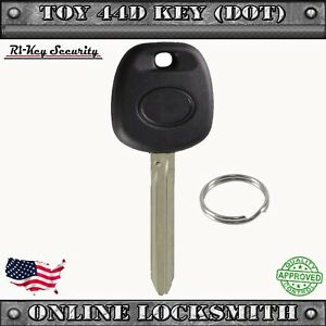 New Replacement Toyota 4d 08020 Uncut Transponder Ignition Car Key Blank