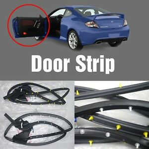 Oem Genuine Parts Rubber Door Strip 2pcs For Hyundai 2003 2008 Tiburon Tuscani