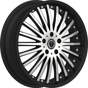 20 Inch Borghini B23 Black Machine Wheels Rims Tires Fit Cts Camry 5 X 1214 3