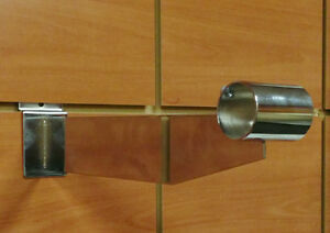 Slatwall Hangrail Brackets 12 For Round Tubes 1 25 Chrome 25 Pieces
