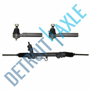 Power Steering Rack And Pinion Assembly 2 New Outer Tie Rod Ends For Mustang