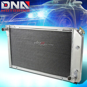 For 77 82 Chevy Corvette 5 0 5 7 V8 Manual Three Row Core Full Aluminum Radiator