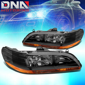 For Honda Accord 1998 2002 2dr 4dr Jdm Black Housing Amber Corner Headlights