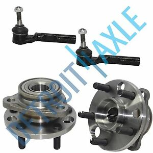 4 Pc Set 2 Complete Wheel Hub And Bearing Assembly 2 Outer Tie Rod End
