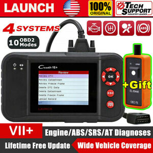 Launch X431 Creader Vii Car Obd2 Diagnostic Scanner Code Reader Engine Abs Srs
