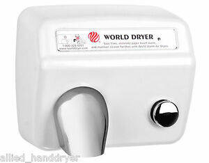 World Da54 208 230v hand Dryer With Stamped Steel Cover