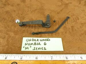1940 Underwood Champion 6 M Typewriter Part Line Space Selector