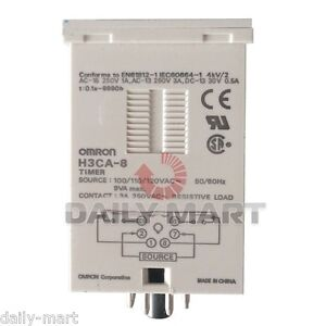 Omron Timer H3ca 8 H3ca8 100 110 120vac Original New In Box Nib Free Ship