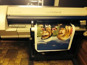 Roland Sp 300v 30 Versacamm Large Format Printer Cutter W Desktop Tower