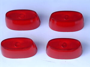 1958 58 Ford Car Script Red Taillight Lens Fairlane 500 New X4