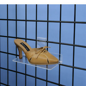 Gridwall Grid Panel 4 x10 Flat Acrylic Shoe Shelf 10 Pieces