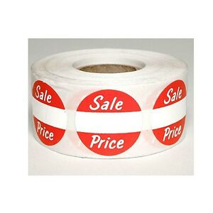 500 Self adhesive Sales Price Round Retail Labels 1 Stickers Tags Sale Price