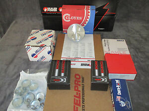 Chevy Engine Kit 350 1969 79 Pistons Gaskets Rings Bearings Hp Op Habla Espanol