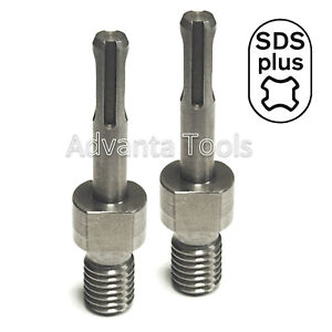 2pk Core Bit Adapter 5 8 11 Threaded Male To Sds plus For Hammer Drill