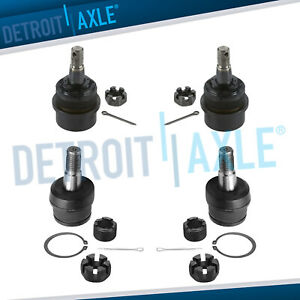 Brand New All 4 Front Upper Lower Ball Joints Jeep Grand Cherokee Wrangler
