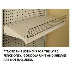 Gondola Shelf Wire Fence 3 H X 48 L Lozier Madix Chrome Finish 20 Pieces