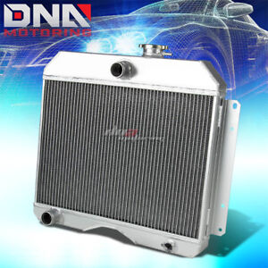 For 46 53 Willys Staion Wagon Pickup Truck Three Row core Full Aluminum Radiator