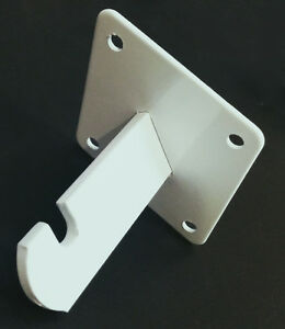 Gridwall Wall Mount Bracket Grid Panel Mounting Brackets White 50 Pieces